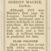Gordon Mackie, Carlton.