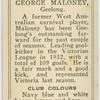 George Maloney, Geelong.