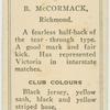 B. McCormack, Richmond.