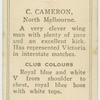 C. Cameron, North Melbourne.