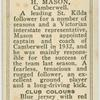 H. Mason, Camberwell.