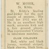 W. Mohr, St. Kilda.