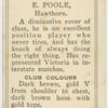 E. Poole, Hawthorn.