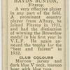 Haydn Bunton, Fitzroy.