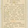 J. Baggott, Richmond.