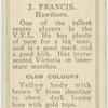 J. Francis, Hawthorn.