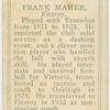 Frank Maher, Fitzroy.