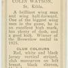 Colin Watson, St. Kilda.