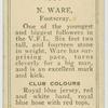N. Ware, Footscray.
