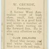 W. Grundy, Footscray.