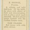 E. Brewis, Preston.