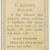 L. Maynes, Brunswick.