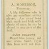 A. Morrison, Footscray.