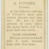 A. Fitcher, Fitzroy.