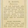 H. Baker, Footscray.