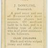 J. Dowling, Brunswick.