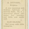 A. Joynson, Brighton.
