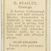 G. Beasley, Oakleigh.
