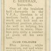 C. Sheehan, Yarraville.