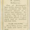 H. Long, Melbourne.
