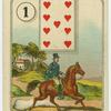 [Nine of hearts (Man on horse).]
