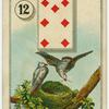 [Seven of diamonds (Birds in nest).]