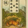[Nine of clubs (Mountain lion with kill).]