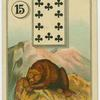[Ten of clubs (Bear on mountain).]