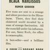 Black narcissus.