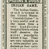 Indian game.