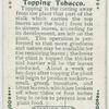 Topping tobacco.