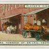 Unloading tobacco at an I.T.C. factory.