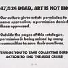 Art Is Not Enough [With 47,524 Dead . . .]