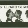 Kissing Doesn't Kill (Black and white postcard)