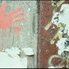 Bloody Handprint on public wall