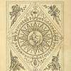 [Center design of twelve-leafed floral shape with central design of classical soldier.]