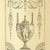 [Central design of urn; cherub holding two birds, next to a lion.]