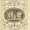 [Central design of four cherubs with a torch and ram.]