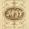 [Central design of four cherubs with basket of apples, shrouds, and torch.]