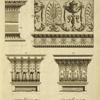 [Upper right design of cornice, frieze, and architrave.]