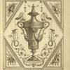 [Central design of urn with two mermen on lid pouring water from shells.]