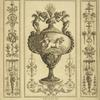 [Central design of urn with design of cherub driving horse-drawn chariot.]
