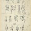 Several views of bones of pelvis, knee, and foot.]