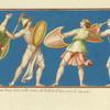 Pittura anticha, scoperto l'anno 1684, nelle ruine del Palazzo di Tito, vicino le sette sale.
