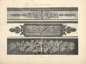 [Figure du haut.-- motif central décorant le bandeau d'une cheminée (palais de Compiègne).][...]