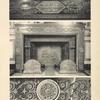 [Figure du milieu.-- cheminée du palais de Fontainebleau, en marbre rouge avec appliques de bronze doré; le fond des médaillons est émaillé en bleu [...]