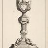 [Chalice with amorino and pyramid shape on cup.]