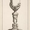 [Chalice with two cherubs with garlands on cup.]
