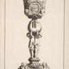 [Chalice with two amorini and bird feeding her chicks on cup.]