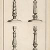 [Four candlesticks.]